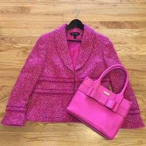 Escada pink tweed blazer